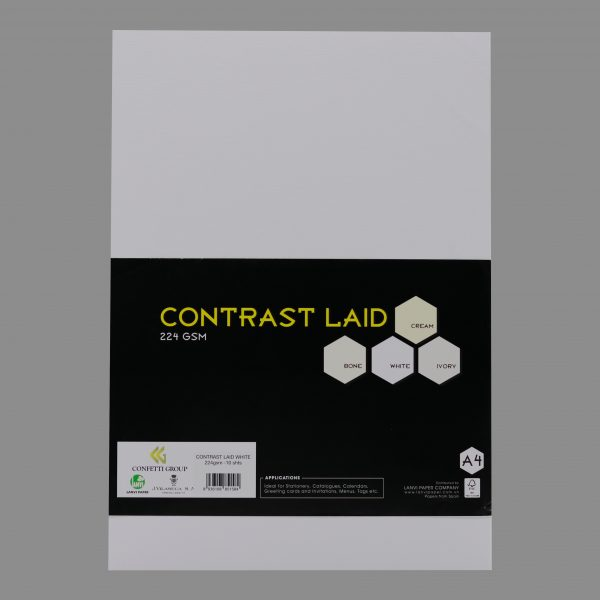 Contrast Laid White 224