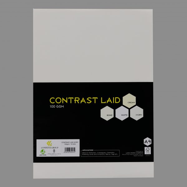 Contrast laid Ivory 100